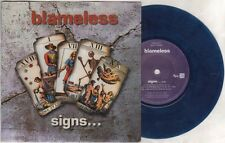 "BLAMELESS Signs  7"" Blue Vinyl, Ps, Orig 1996 Ltd Edition, 3 Tracks Inc Breathe-"