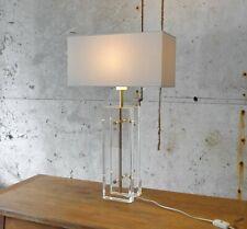 Lampe plexiglass vintage – XXL lucite vintage table lamp