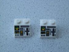 Lego 3039pb045 # 2x Schrägstein 2x2 bedruckt weiss weiß  7893 7894