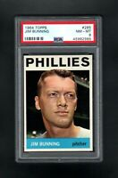 1964 TOPPS #265 JIM BUNNING HOF PHILADELPHIA PHILLIES PSA 8 NM/MT++TOUGH CARD!