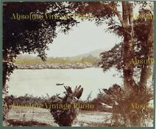 OLD ALBUMEN PHOTOGRAPH VIEW FROM ST JAMES SINGAPORE MALAYSIA ANTIQUE C.1880
