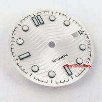 31mm sterile silver watch Dial Fit ETA 2836/2824 2813/3804 Miyota 8215 821A