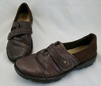 Earth Spirit Women's Gelron 2000 Brown Leather Shoes Size 8 Slip On Loafers
