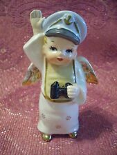 Vintage Navy Boy Angel Holds Up Hand Figurine EX