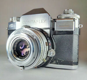 Zeiss Ikon Contaflex IV ~ Collectible Serial L 60002 35mm SLR + Lens