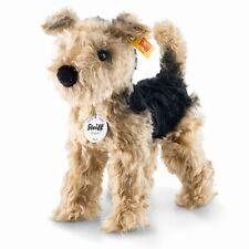 Steiff Terri Welsh Terrier Dog EAN 033735 Mohair Stuffed Animal Toy New Gift