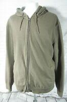 Croft & Barrow Easy Care Hoodie Jacket Brown Men's XL Zip Front Soft Fleece