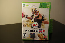 Madden NFL 11 (Microsoft Xbox 360, 2010) New / Factory Sealed