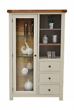 Painted Oak Display Cabinet Combination Chest / Living Room Furniture Croft