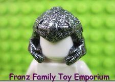 LEGO Castle Fantasy Minifig Speckled Black Silver HELMET Thin Band 7048 7097 EUC