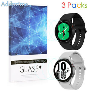 3 Packs 9H Hardness Tempered Glass Screen Protector For SAMSUNG Galaxy Watch 4