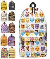 Girls Boys Kids Backpack School Bag Rucksack Daypack Travel Hand Luggage Emoji H