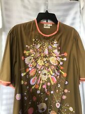 alfred shaheen button front casual dress 1960s RARE  Tiki Fab
