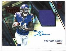 2015 R&S Rookies & Stars Stefon Diggs Auto Player Worn Jersey Rc # /99