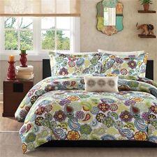 Beautiful Modern Green Purple Teal Blue Aqua Tropical Medallion Comforter Set