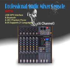 6 Channel DSP Pro Stereo Mixer Audio Mixing Console Sound Console Desk