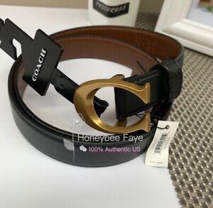 NWT COACH Woman Signature Buckle Belt 25mm S/M/L