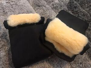 John lewis Handlebar Mittens Buggy Gloves Immaculate Cond Sheepskin Rrp £40