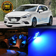 6 Pieces Blue LED Interior Package Lights Kit For 2010-2015 Mazda 3
