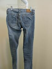 GUESS Cotton Blend Medium Wash Ultra Low Rise Skinny Jeans - Size - 27