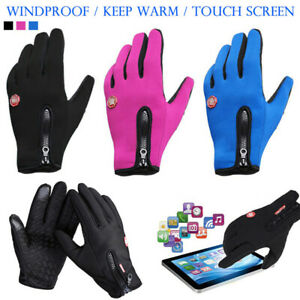Windproof Winter Thermal Cycling Gloves Touch Screen Bike MTB BMX Bicycle Mitts
