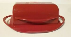 Butterie Butter Holder Dish Flip Top Red by Kitchen Concepts Unlimited