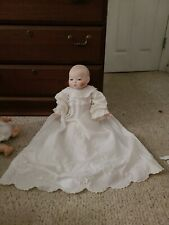 Vintage German Bisque Baby Doll By Grace S. Putnam with GERMAN GLASS  BLUE EYES