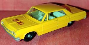 Matchbox - Chevrolet Impala Taxi - No 20 - aus den 60ern