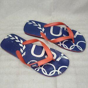Roots USA Olympics Rubber Flip Flops SIZE XL