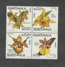 Guatemala, Postage Stamp, #C655a Block Mint NH, 1978 Flowers