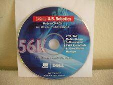 3COM DELL US ROBOTICS V.90 56K Modem Driver & Digital Manual CD-ROM