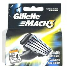 Gíllette Mach3 Razor Refill Cartridges, 4 Ct + Eyebrow Trimmer
