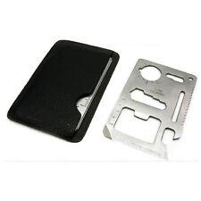 Outil Couteau Kit de Survie Format Carte de Crédit 11 en 1 Multifonction