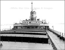Photo: On Board The Steel Bulk Freighter SS Edmund Fitzgerald Looking Aft, 1968