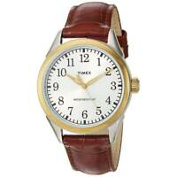 Timex TW2P99500 Men's Briarwood Terrace Brown Leather Strap Watch