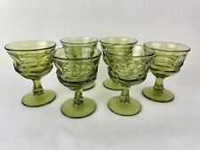 Fostoria Sorrento Green Footed Sherbet Champagne Footed Goblets