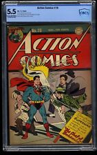 Action Comics #78 CBCS FN- 5.5 Cream To Off White