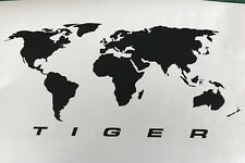 A PAIR World maps for Triumph Tiger Pannier STICKERS Decals GRAPHICS