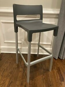 SCAB Design Divo H.75 Stackable Barstool Anthracite Gray Indoor/Outdoor Set of 4