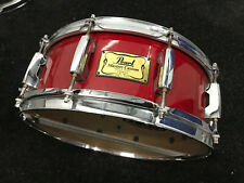 Pearl Masters Custom Maple 14 x 5.5 Snare Drum Red