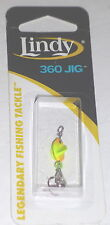 Lindy Tackle 1/8 360 Spinner Ice Jigs(Orange-Chartreuse)