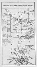1778 Ireland Dublin Dunleer Glassnevin St Margaret's etc. Antique Road Map