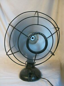 "vintage WESTINGHOUSE oscillating fan Style No. 1232750 electric 10"" propeller"