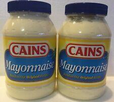 2 Jars CAINS Mayonnaise Mayo 30 oz New England Boston Food Condiment Kane Kain