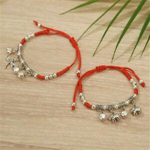 Lucky Handmade Feng Shui Red String Rope Woven Bracelet Friendship Wristbands