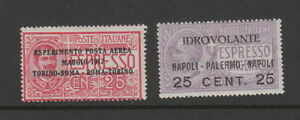 Italy 1917  Airs MH , SG 102, 103