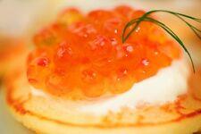 Wild Fresh Alaskan Salmon Roe Russian Red Caviar Ikura Keta - 4oz