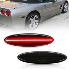 Smoked Lens Red Led Rear Side Marker Light for 1997-2004 Chevy Corvette C5 2PC