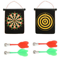 2 in1 Magnetic Dartboard Roll Up 6 Magnet Darts Game Dart Board Double Sided Fun