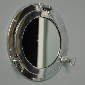 nautical wall mirror Silver Color porthole Aluminum porthole for bathroom & home